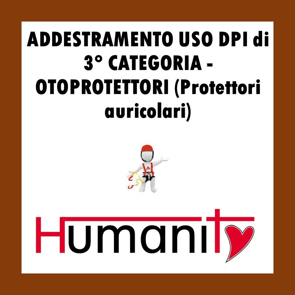 ADDESTRAMENTO USO DPI di 3° CATEGORIA  OTOPROTETTORI (Protettori auricolari)