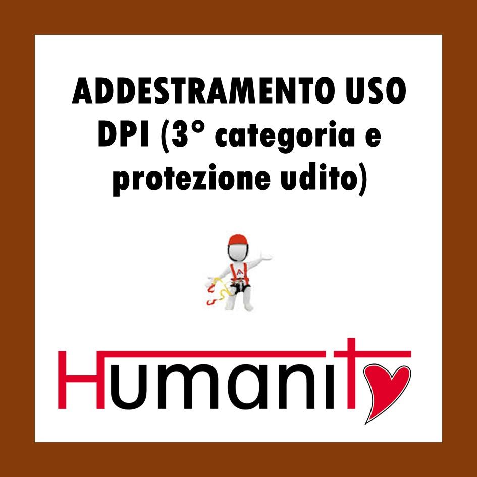ADDESTRAMENTO USO DPI  (3° categoria e protezione udito)