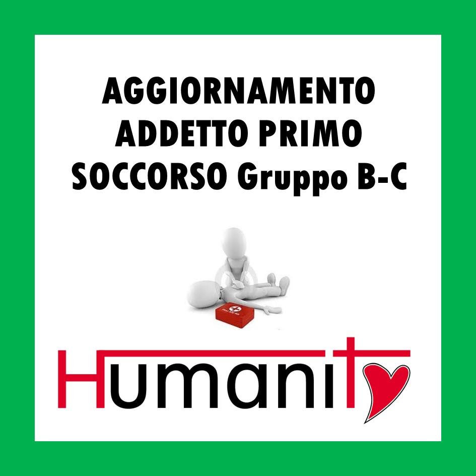 AG – ML – BC – AGGIORNAMENTO ADDETTO PRIMO SOCCORSO Gruppo BC –  4 ORE