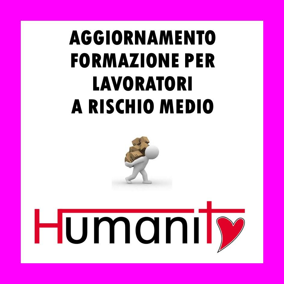 AGGIORNAMENTO FORMAZIONE PER LAVORATORI  A RISCHIO MEDIO