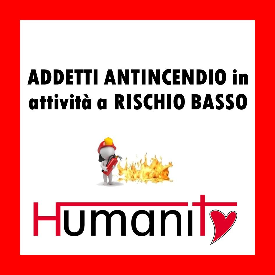 ADDETTI ANTINCENDIO in attività a RISCHIO BASSO