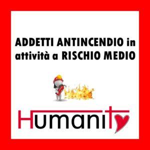 ANT-M - Addetto ANTINCENDIO in attività a RISCHIO MEDIO – 8 ORE @ Centro Sportivo PETRARCA RUGBY