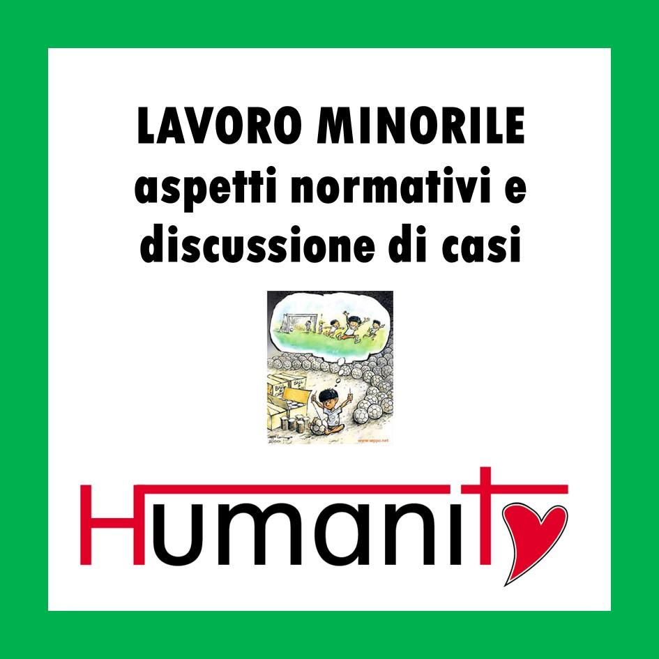 ML – MINORI – LAVORO MINORILE – 2 ORE – pomeriggio