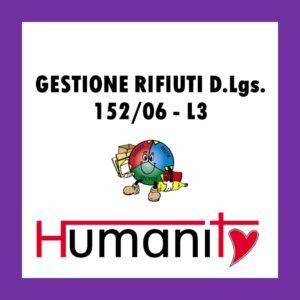RIF-L3 - GESTIONE RIFIUTI D.Lgs. 152/06 – pomeriggio @ Centro ANTONIANUM